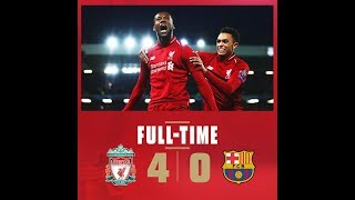 Liverpool vs Barcelona 4 - 0 all goals and highlights UCL 18-19 Semi Final|You 'll never walk alone