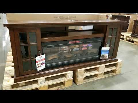 "Costco Tresanti 74"" Fireplace (Infrared) TV Console! $449!!!"