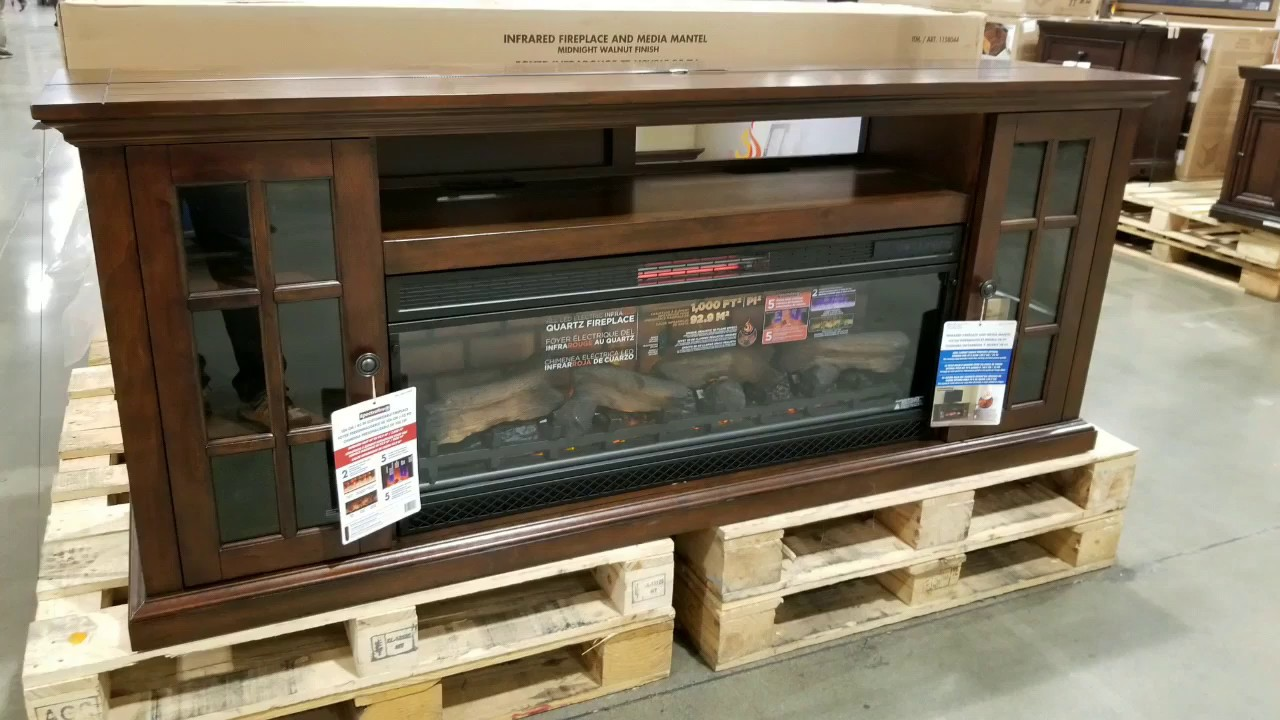 Costco Tresanti 74 Fireplace Infrared Tv Console 449 Youtube