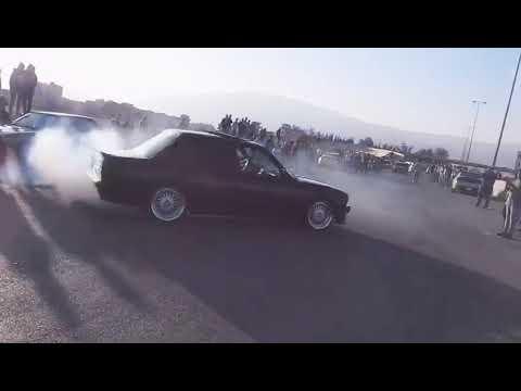 BMW e30 335 donuts drifting