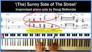 'Sunny Side of the Street' - solo jazz piano tutorial