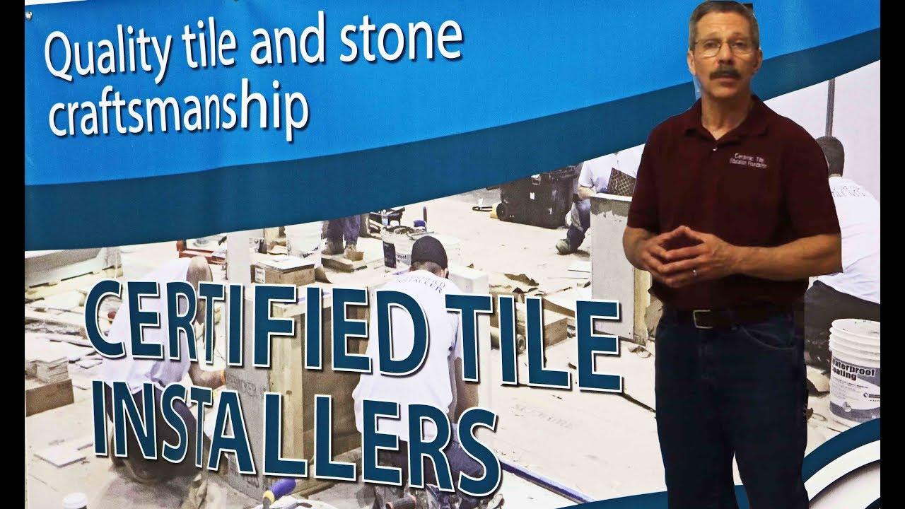 certified tile installer test youtube