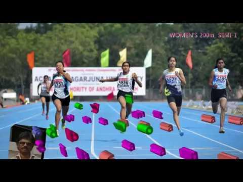 WOMEN'S 200m  SEMI -1. 78th ALL INDIA INTER-UNIVERSITY ATHLETICS CHAMPIONSHIPS : 2017-18