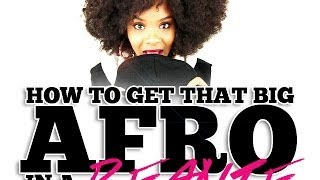 NATURAL HAIR | How to Get That BIG AFRO Into a Beanie