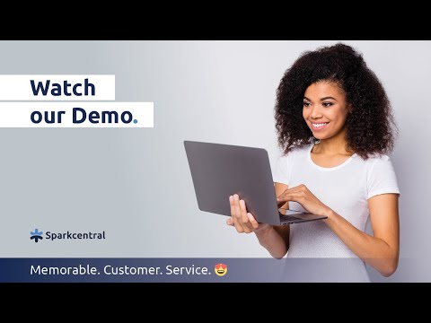 Let's show how customers can easily connect with you on their preferred channels with Sparkcentral.