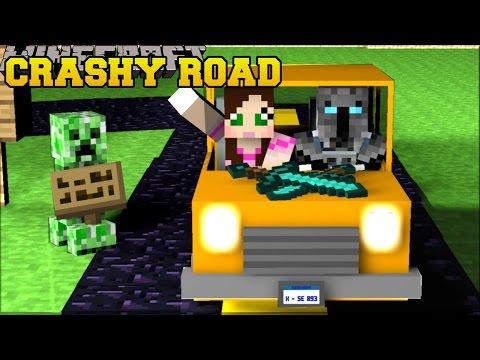 minecraft crashy road grand theft auto car escape mini game