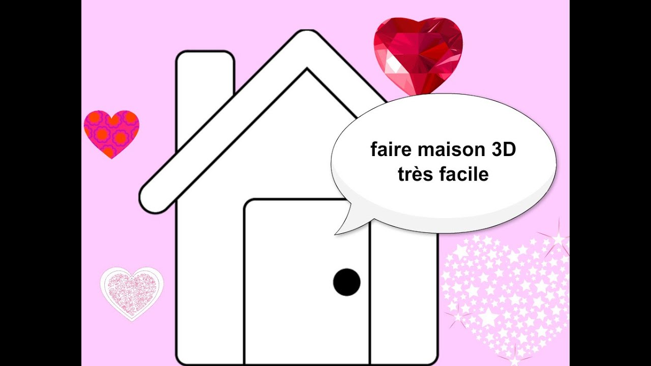 Dessiner maison 3d tr s facile youtube for Dessin de maison en 3d