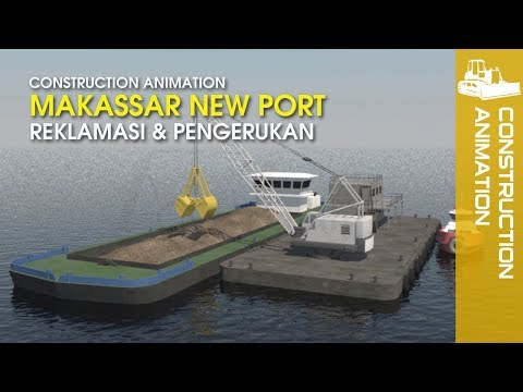 Construction Video - Makassar New Port | Port Animation