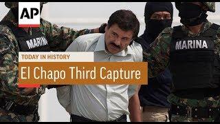 El Chapo Recaptured Third Time - 2016   Today In History   8 Jan 18