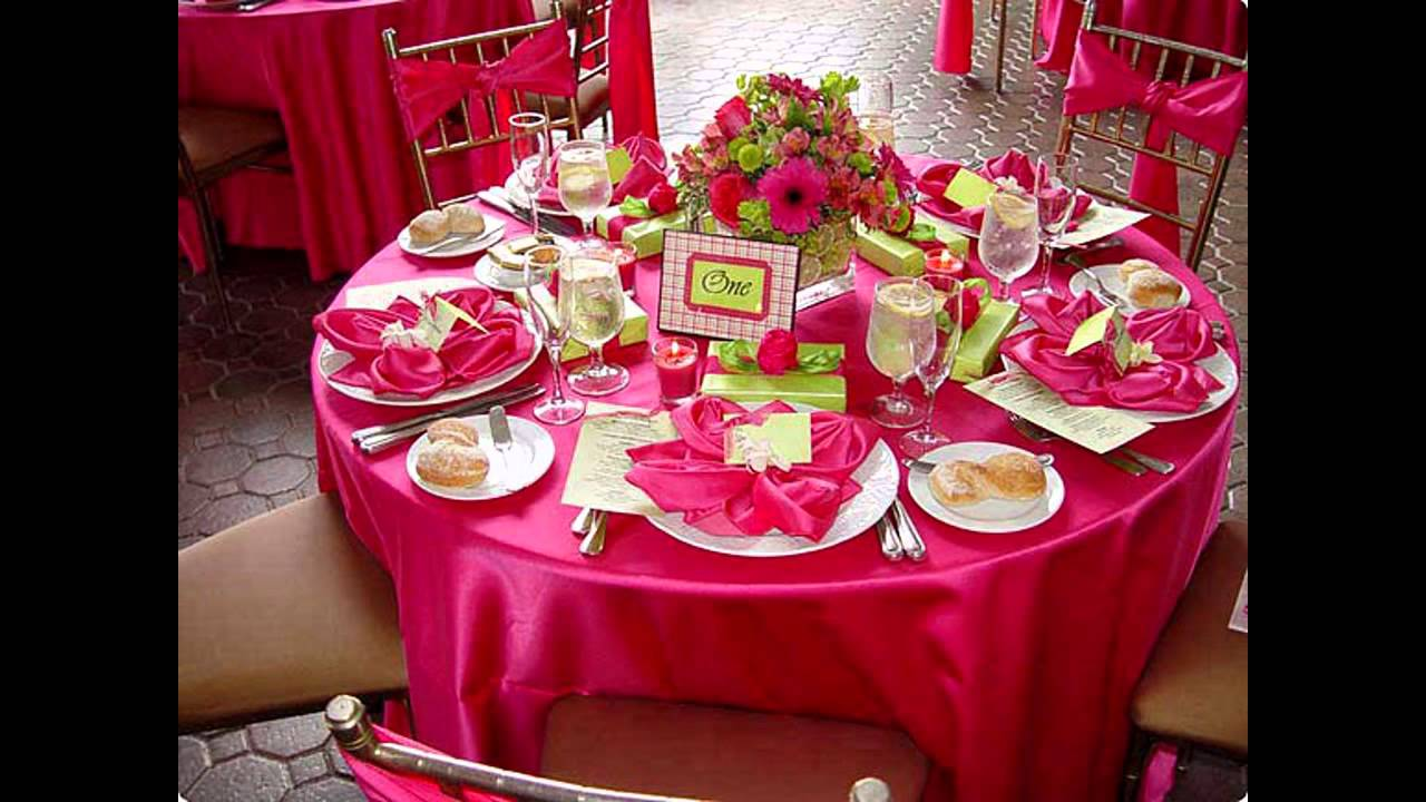Table arrangement ideas for weddings - YouTube