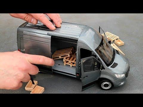 1:18 Mercedes-Benz Sprinter Panel Van 2018 - Norev [Unboxing]