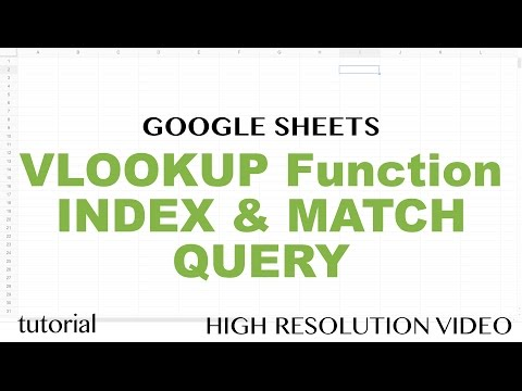 Google Sheets VLOOKUP Function Tutorial - INDEX & MATCH, QUERY - Part 1