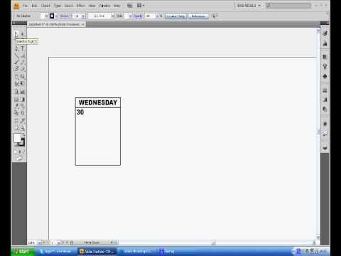 Adobe Illustrator Cs4 Calendar Tutorial Youtube