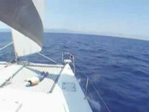 Sailing into Palma Harbor on Mallorca
