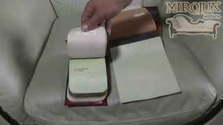 видео Перетяжка мягкой и кожаной мебели
