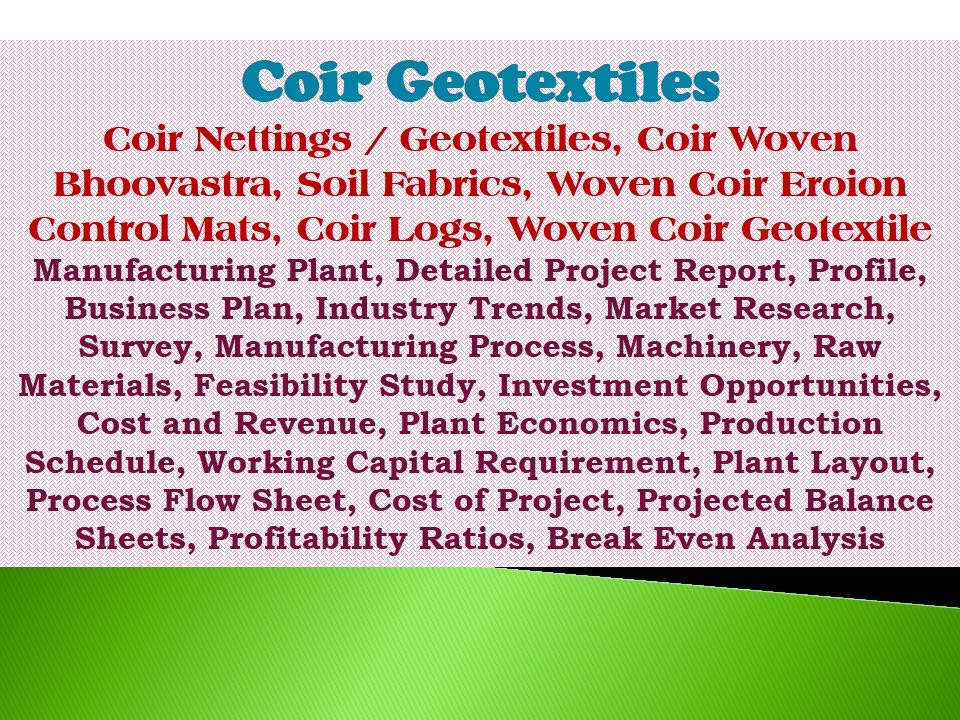coir industry project report