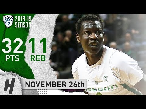 Bol Bol Full Highlights Oregon vs Texas Southern 2018.11.26 - 32 Points. 11 Reb