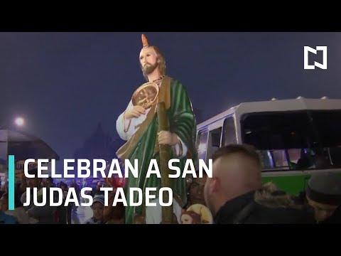 Celebran a San Judas Tadeo en la CDMX - Las Noticias con Claudio Ochoa