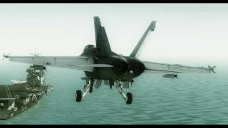 FS2004 Aircraft Carrier Land Test / VRS F/A-18 SH HD 3D Video