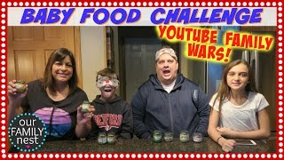 baby food challenge vs smelly belly tv   youtube family wars