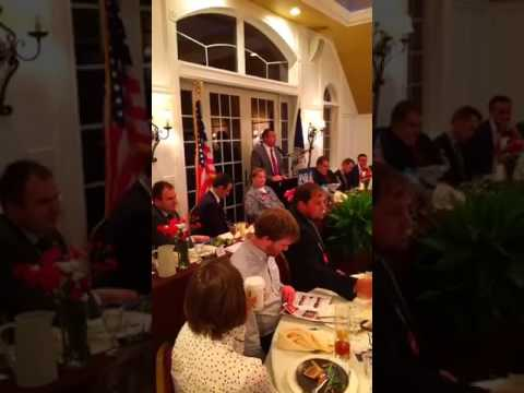 Speaking at the 5th Annual Stafford-Morris Dinner in Giles County | Corey Stewart