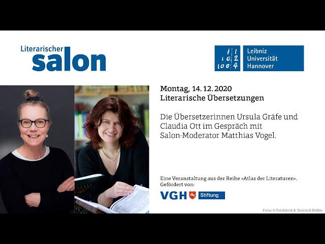 AUDIO: Die Übersetzerinnen Claudia Ott + Ursula Gräfe im Gespräch mit  Salon-Moderator Matthias Vogel - YouTube