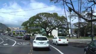 Drive in Hawaii H1 Free Way  Waikiki - Airport  No.1