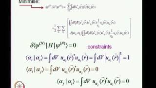 Mod-01 Lec-22 Hartree-Fock Self-Consistent Field formalism - 3