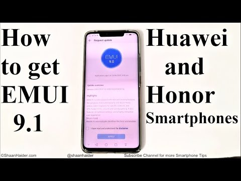 How To Update Huawei And Honor Smartphones To EMUI 9.1