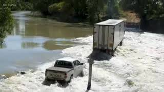 Toyota Hilux Stuck In River