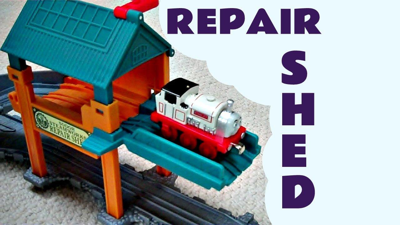 Take N Play Sodor Steamworks Repair Shed Thomas The Tank