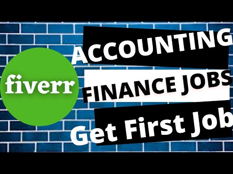 Accounting and Finance Jobs on Fiverr | Get your First Jobs | Hindi | Freelancing Accounting Jobs