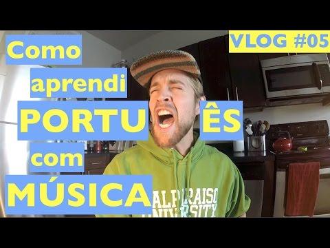 Como aprendi PORTUGUÊS com MÚSICA   SA VLOG #05   THE MUSIC TAG