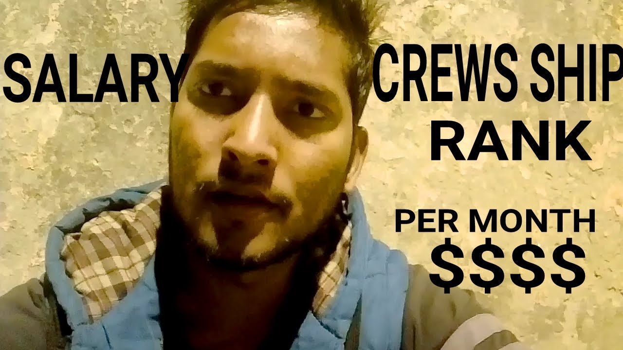 CRUISE SHIP Rank And SALARY PER Month