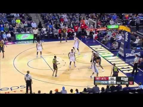 Atlanta Hawks vs Denver Nuggets | January 25, 2016 | NBA 2015-16 Season