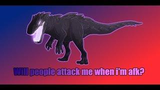 "Pretending to be ""afk"" social experiment | Dinosaur simulator ROBLOX"
