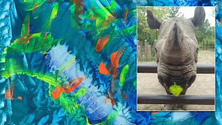 Watch Rhino Paint Masterpieces to Save Her Species