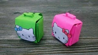 How to make a paper School Bag | Backpack Origami | DIY paper crafts | Easy Origami step by step