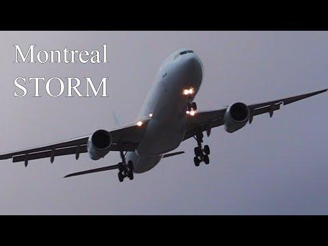 MONTREAL STORM 90KM/H CROSSWIND LANDINGS