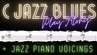 C Jazz Blues Play Along Tracks for Piano │Jazz Piano Lessons #20