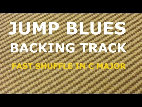 Jump Blues Backing Track - Fast shuffle/ swing blues in C major