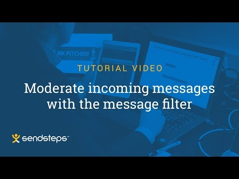 Moderate Incoming Messages with the Message Filter