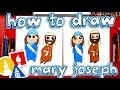 How To Draw Mary And Joseph - Nativity