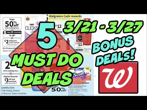 5 must do walgreens deals 3 21 3 27 22 in products for free