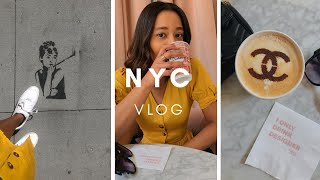 NYC VLOG | NY KNICKS GAME | DESIGNER LATTE | COFFEE 'N CLOTHES | SHOWFIELDS