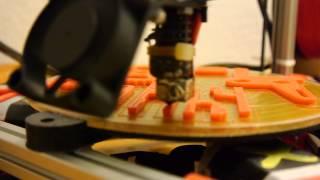 high speed delta 3d printer