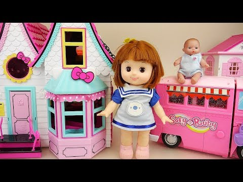 Baby doll house and camping car toys baby Doli play