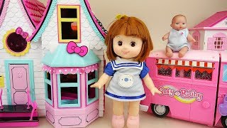 Baby doll house and camping car toys baby Doli play thumbnail