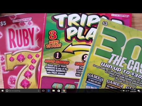 30X Triple Play Ruby 7s Fun Fun Fun Indiana Lottery Scratchers