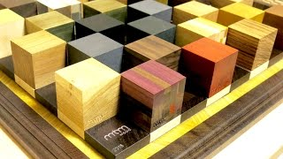 Making wooden cubes